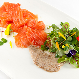 Maker's Mark® Cured Salmon with Bourbon Mustard Sauce