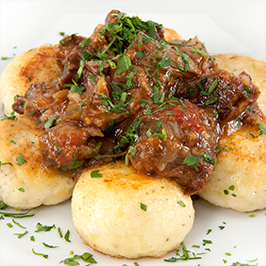 Maker's Mark® Braised Oxtails with Ricotta Gnudi