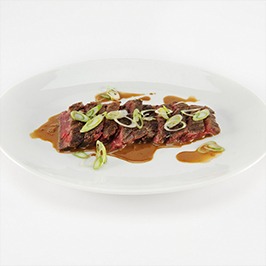 Bourbon Marinated Hangar Steak