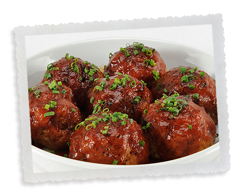 glaze elk meatballs with bourbon barbecue sauce bourbon meatballs ...